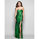 TS Couture Formal Evening / Military Ball Dress - Dark Green Plus Sizes / Petite Sheath/Column Strapless / Sweetheart Floor-length Sequined