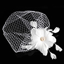 Bridal Tulle Fascinators with Beading and Feather Wedding/Special Occasion Headpieces