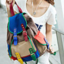 Fashion Contrast Color Casual Backpack