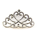 Bridal Colorful Alloy Tiaras with Rhinestone Wedding Headpieces(More Colors)