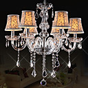European Style Vintage 6 Lights lysekrone med Crystal Arm