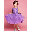 A-line/Princess Knee-length Flower Girl Dress - Cotton/Polyester Sleeveless