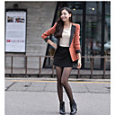 Women's Tailor Collar  Split Joint Long Sleeves Outwear