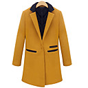 Dames OL Contrast Color Tailored Collar Coat