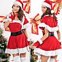 Noël Costume de Santa Miss Red Velvet Dress Femmes