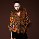 3/4 Sleeve Shawl Faux Fur Party/Casual Coat