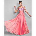 Homecoming Formal Evening/Prom/Military Ball Dress - Watermelon Sheath/Column Spaghetti Straps Floor-length Chiffon/Sequined