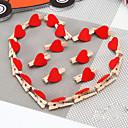 madera decoración de la boda del melocotón rojo artesanal corazón pinza fija de 20