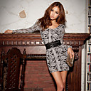 Women's Round Neck Lace Mini Dress , Lace Casual/Party