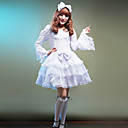 Sweet Girl Long Sleeve Knee-length Cotton Princess Lolita Dress