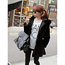 Long Sleeve Hooded Faux Fur parti / Casual Coat