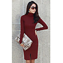 Kvinnors Casual Roll Neck Mini Dress