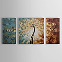 Oil Painting Botanical Tree with Stretched Frame Set of 3 1311-FL1081 Hand-Painted Canvas