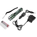 Lanternas e Luzes de Tenda Modo 350 Lumens Foco Ajustável / Prova-de-Água / Recarregável Cree XR-E Q5 18650.0Campismo / Escursão /