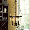 60W Retro hanglamp met 3 Lichten en glazen kap in Candle Feature