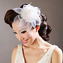 Tulle Flowers with Crystal Wedding Headpieces(More Colors)