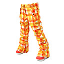 NOKJOK-Women's Check Pattern Ski/Snowboard Pants