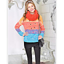 Pink Doll Colorful Stickning Long Sweater