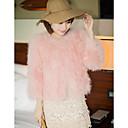 Mouwloze kraag struisvogel bont Party / casual jas (meer kleuren)