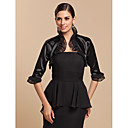 Long Sleeve Satin/Tulle Special Occasion Evening Jacket/Wedding Wrap(More Colors) Bolero Shrug