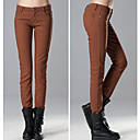 Women's Beige/Black/Blue/Brown/Green/Purple/Red Skinny Pants , Bodycon/Casual