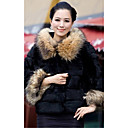 Long Sleeve Hooded Faux Fur And Raccoon Fur Party/Casual Jacket(More Colors)