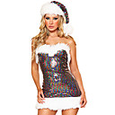 Sexy Rainbow Girl Sequin Women's Christmas Costume