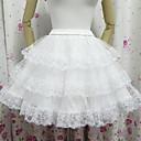 Angel Style White Mesh Classic Lolita Skirt (Waist: 60-85 Length 45)