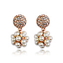 Drop Earrings Women's Alloy Earring Imitation Pearl/Cubic Zirconia