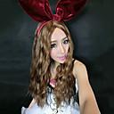 100% Kanekalon Synthetic Lolita estilo longo louro ondulado peruca