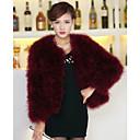Prachtige lange mouwen kraag Struisvogel Bont Casual / Party Jacket