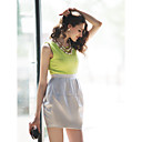 TS Contrast Color Puff Tulip Dress