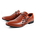 Men's Shoes Dress/Party & Evening Faux Leather Oxfords Black/Brown/White