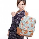 Women's Huge Capacity Floral Canvas Backpack