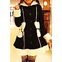 Elegant Princess Sweet Lolita Coat with Bunny Ears Pattern Cap