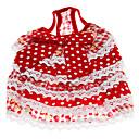 Couches mignon points de style fraise de jupe de courroie pour Animaux Chiens (tailles assorties)