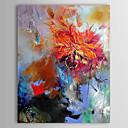 pittura a olio floreale astratta fiore rosso con cornice trasferimenti su tela dipinto a mano