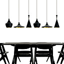 Max 60W Mini Style Painting Metal Pendant Lights Bedroom / Dining Room