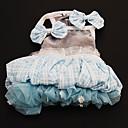 Robes - Chiens - Eté Bleu - en Térylène - XS / M / XL / S / L / XXL