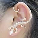 BaoGuang®1PCS Beautiful Zircon Alloy Gecko Pattern Earrings