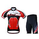 Nueva MYSENLAN Hombres Diseñado 100% poliéster de manga corta roja Ciclismo Traje M01045