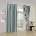 dos paneles modernas cortinas de paneles de poliéster sólida habitación tura de estar oscuras