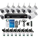 Sinocam® 8CH H.264 720P 4mm P2P WIFI Wirelss Day& Night NVR  Kits Support Video Push, Motion Detection