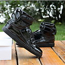 Non Customizable Men's Dance Shoes Hip-Hop/Dance Sneakers Leatherette Flat Heel Black/White