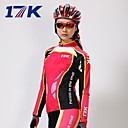 MYSENLAN  Women's Breathable Polyester Summer and Autumn Red Long Sleeve Cycling Suit