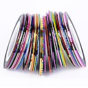 38Pcs Mixed Colors Rolls Striping Tape Line Nail Art Decoration Sticker