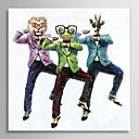 Hand Painted Oil Painting Animal Gangnam Style with Stretched Frame