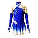 Girl's / Women's Blue Spandex Figure Skating Dress  S / M / L / XL / 6 / 8 / 10 / 12 / 14 / 16