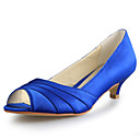 Women's Wedding Shoes Peep Toe Heels Wedding Black/Blue/Pink/Purple/Red/White/Silver/Gold/Champagne/Beige