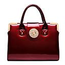 Women's New Patent Leather Diamond Embossed Handbag